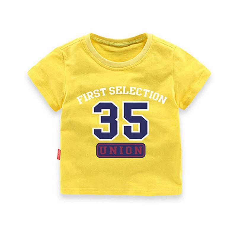 '35' boy's short sleeve t-shirt