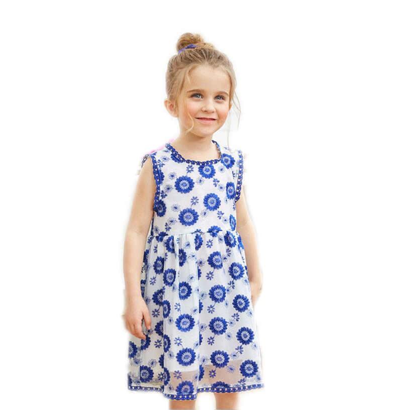 Summer girl's embroidery flower dress