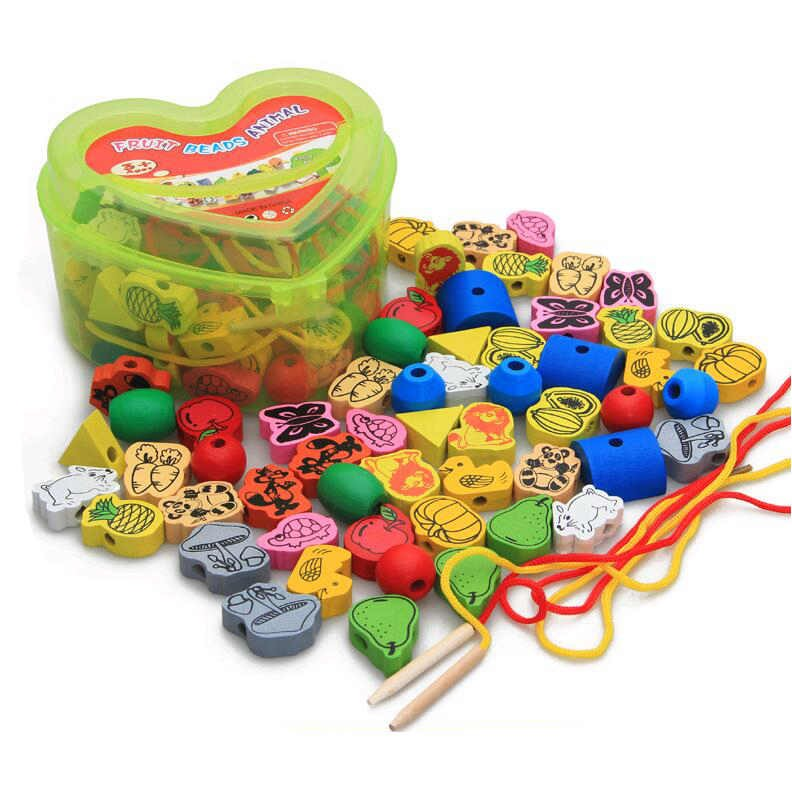 Children's bead blocks toys