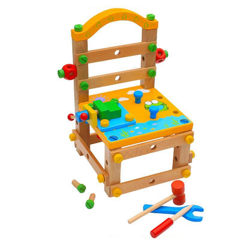 Children's building blocks dismantling chairs