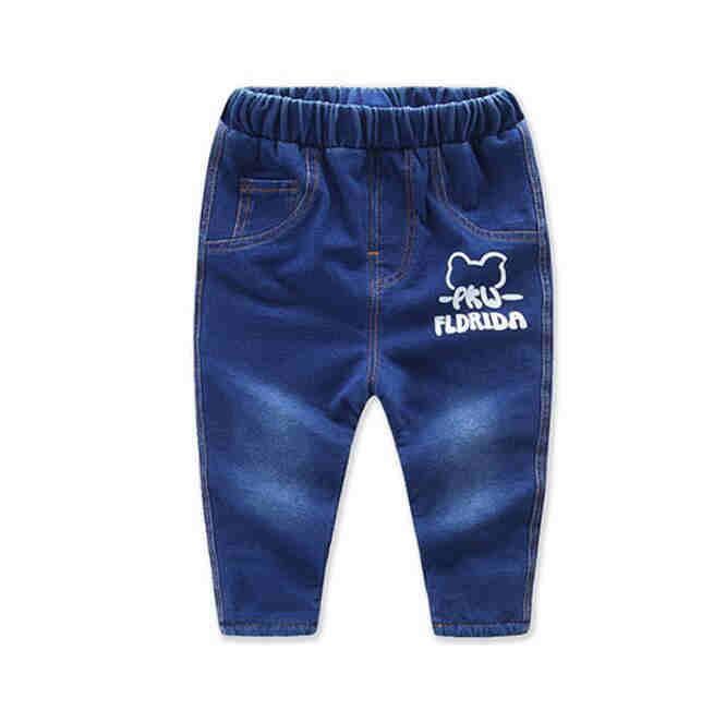New 2017 spring  kids elastic jeans