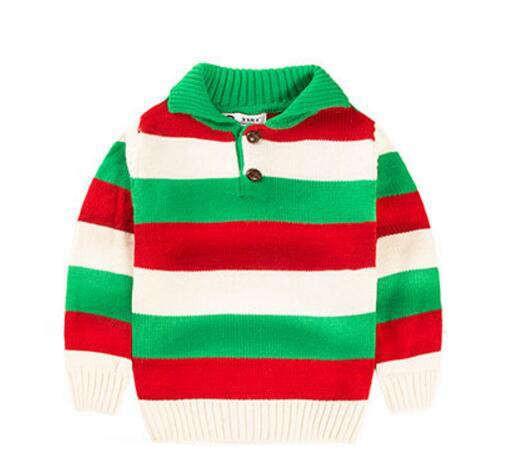children's lapel long sleeves warm sweater