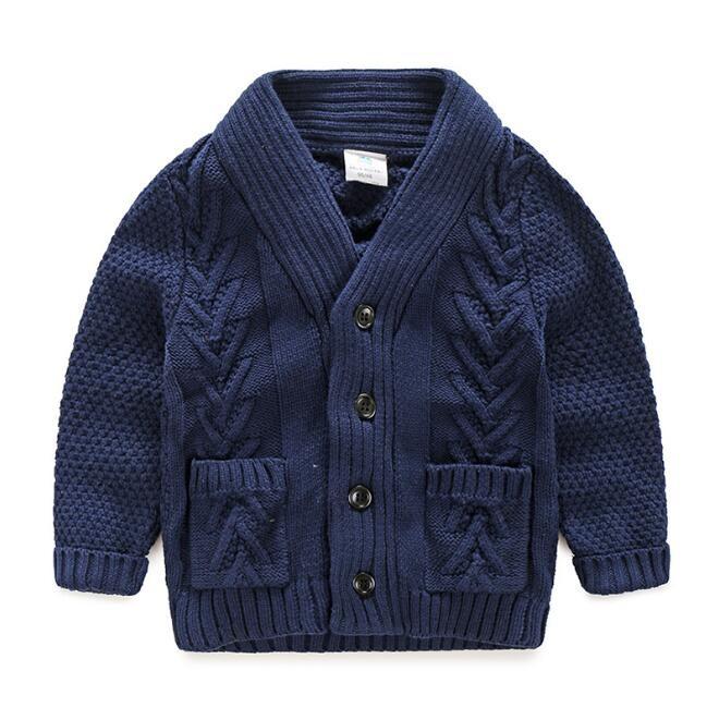 boy's twist shape pattern sweater/cardigan