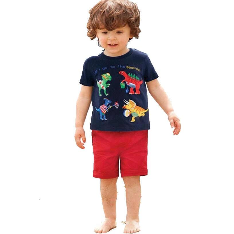 kids summer cotton cartoon short-sleeved t shirt