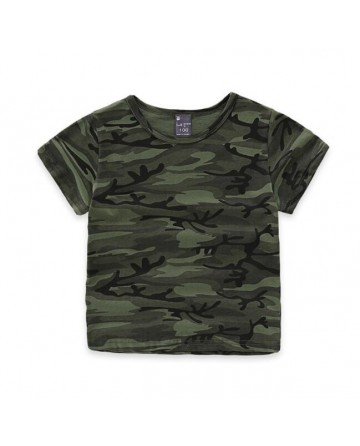 2017 Summer Parent-child short-sleeved t-shirt,camouflage short sleeves tees
