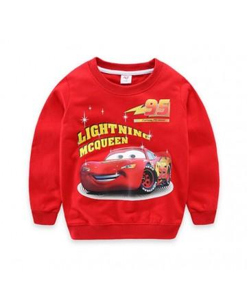 boy's cotton 'cars' print round neck sweater/jacket
