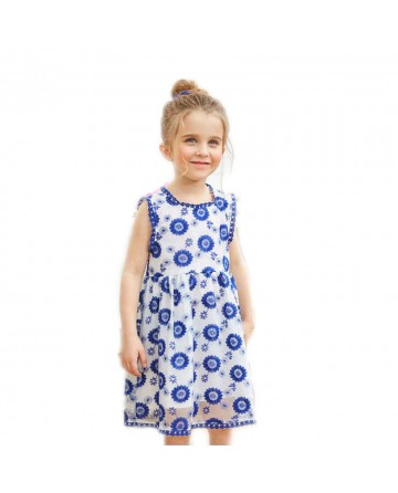Summer girl's embroidery flower dress
