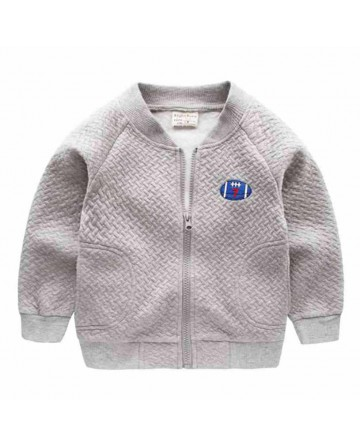 2017 boys cotton collar warm hue jacket,embroidered baseball clothing.