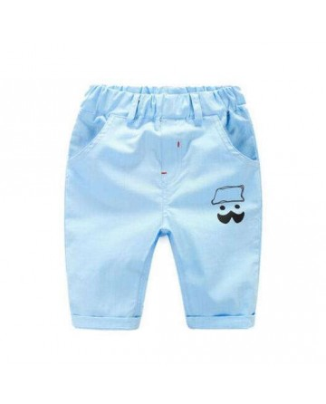 New boy's solid color cartoon seventh shorts