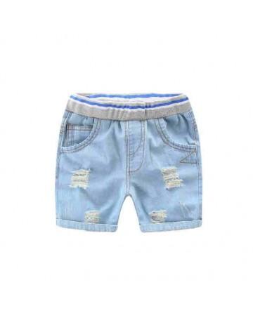 New 2017 summer boys personality hole denim shorts