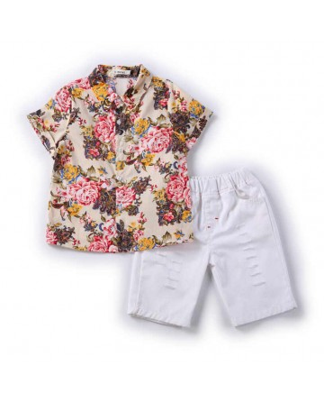 summer boys' casual short sets