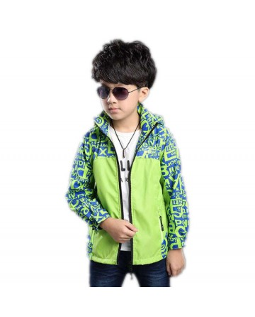 Boy's spring stamp print jackets