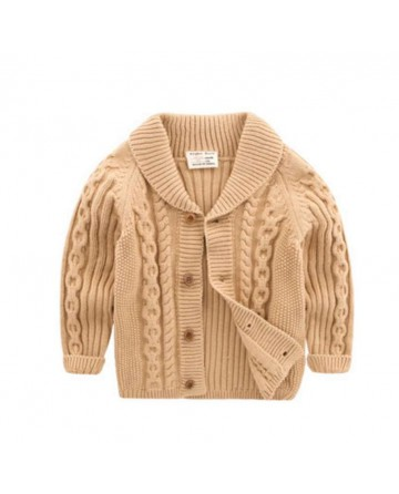 2017 spring boys twisted lapel knitted sweater