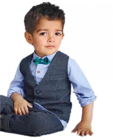 2017 Spring boys small suit long-sleeved shirt vest and pants 3 sets