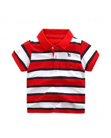 Summer boy striped cotton POLO shirt