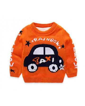 boys cartoon 'taxi' pattern sweater