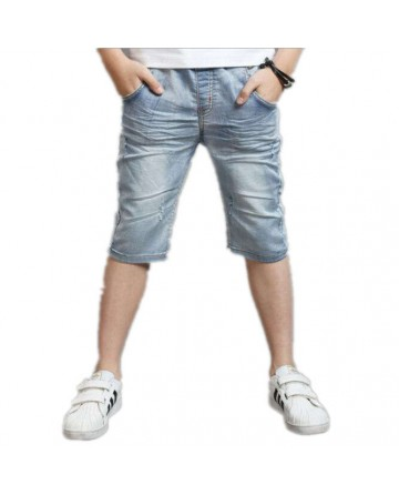 New summer boys denim shorts,capri pants