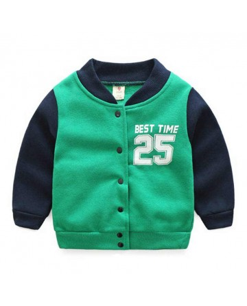 2017 Spring boys' letterman Jacket,'best time 25' printed buckle  baseball jacket
