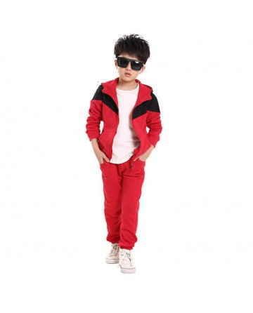 boy's cotton hooded sports sets