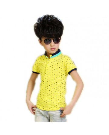 2017 Summer boys yellow Polo shirt