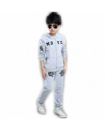 Boy's tiger print hooded sportswear