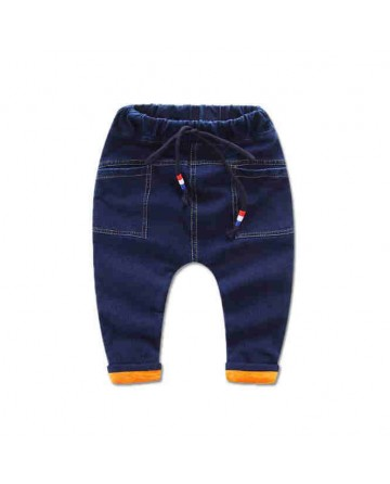 New 2017 boys warm blue jeans