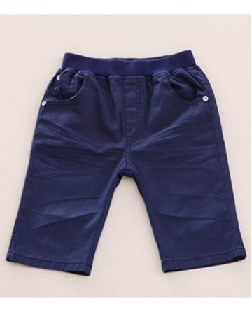 2017 boys summer casual capri pants patch cotton shorts