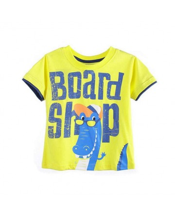 kids boy's cartoon crocodile print T shirt