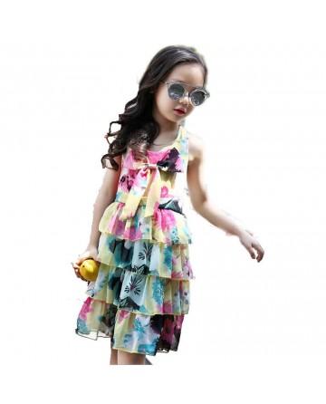 Summer chiffon princess, printed beach skirt