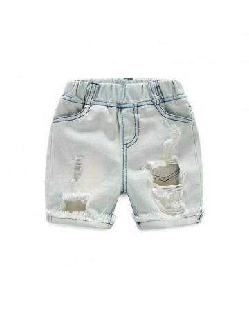 New summer boys hole denim shorts