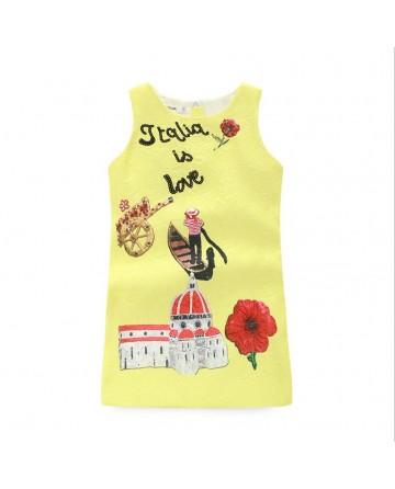 Fashion girl cartoon jumper dress