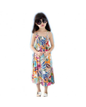 girls retro floral print beach skirt