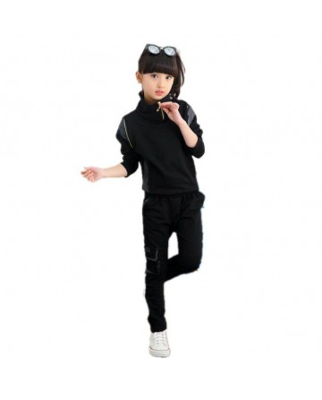 girl's cotton sweater and trousers 2 sets
