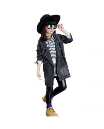 2017 Spring girls' denim  jacket