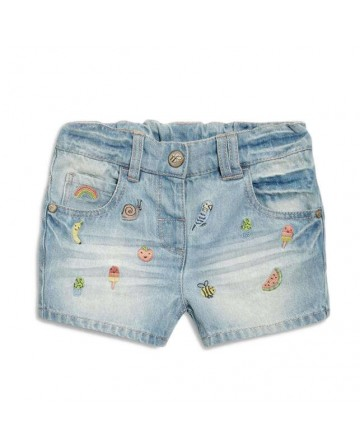 2017 summer girls' embroidery denim shorts,