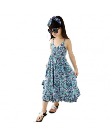 girl's harness floral wide leg pants/personalized dress