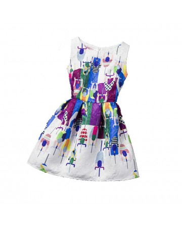 Girl's slim cartoon prints dress