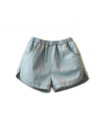 2017 summer girls' blue denim shorts
