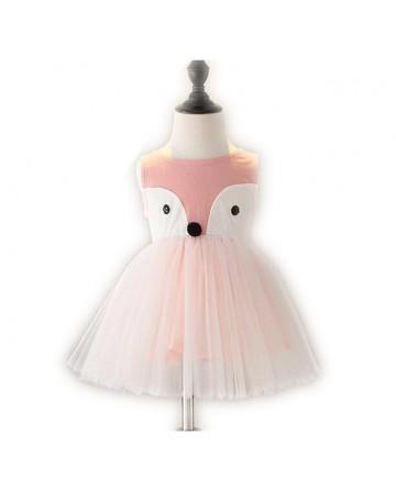 Girl's cartoon fox jumper skirt