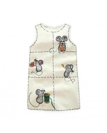 Girls cartoon 'mouse' bead dress