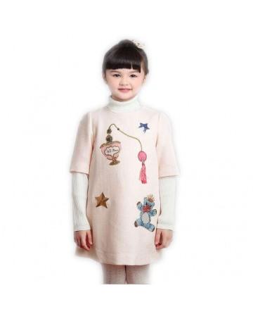 Girls cartoon sequins dress