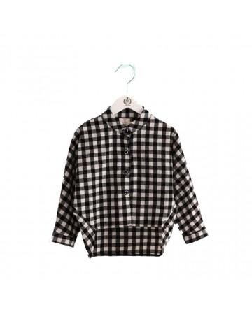 girls fashion plaid shirt