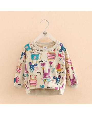 Girl's graffiti cartoon sweater