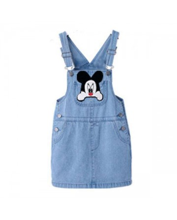 2017 Summer girls' cartoon Mickey denim skirt