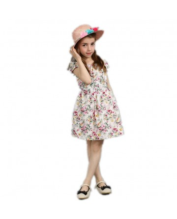 girl floral beach dress
