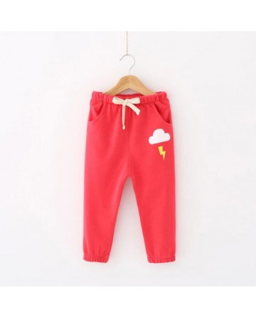 girls solid color lantern pants