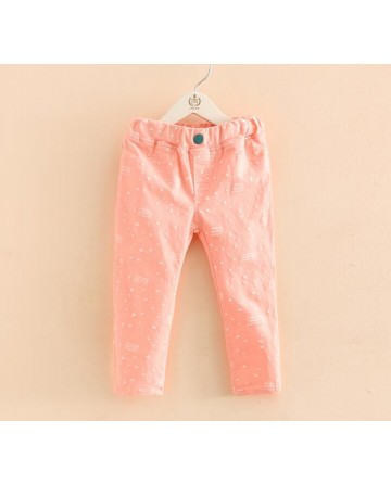 Girls spring stars elastic pants