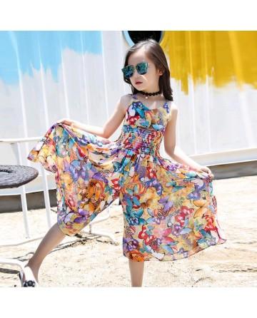 New Bohemian wind girls harness lace skirt
