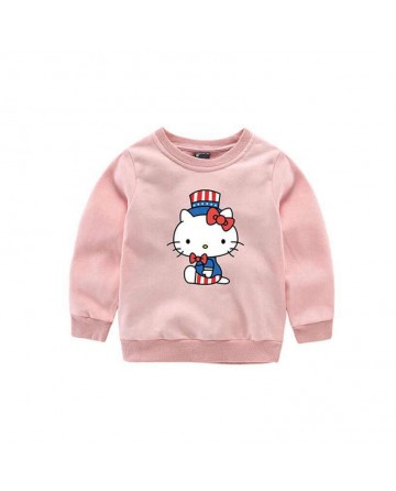 2017 spring kids cotton kitten print sweater