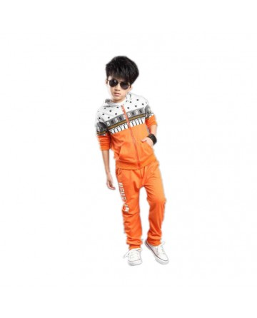 Boy's orange hooded sports 2 sets